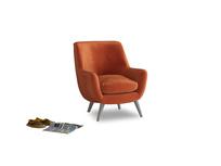 Berlin Armchair in Old Orange Clever Deep Velvet