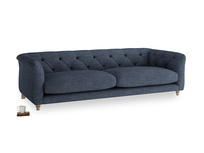 Large Boho Sofa in Selvedge Blue Clever Laundered Linen