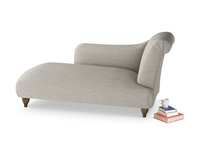 Right Hand Brontë Chaise Longue in Grey Daybreak Clever Laundered Linen