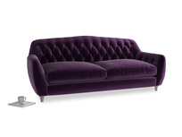 Large Butterbump Sofa in Deep Purple Clever Deep Velvet