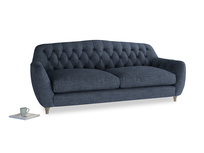 Large Butterbump Sofa in Selvedge Blue Clever Laundered Linen