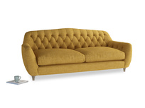 Large Butterbump Sofa in Mellow Yellow Clever Laundered Linen