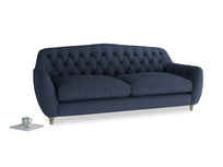Large Butterbump Sofa in Night Owl Blue Clever Woolly Fabric