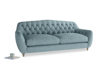 Large Butterbump Sofa in Soft Blue Clever Laundered Linen