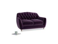 Small Butterbump Sofa in Deep Purple Clever Deep Velvet