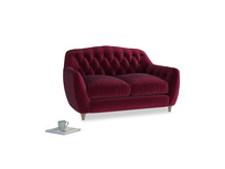 Small Butterbump Sofa in Merlot Plush Velvet