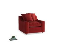 Cloud Armchair in Rusted Ruby Vintage Velvet