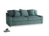 Large Cloud Sofa in Blue Turtle Clever Laundered Linen