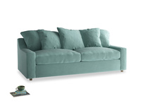 Large Cloud Sofa in Greeny Blue Clever Deep Velvet