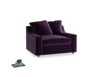 Cloud Love seat in Deep Purple Clever Deep Velvet