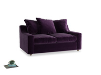 Small Cloud Sofa in Deep Purple Clever Deep Velvet