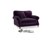 Crumpet Love seat in Deep Purple Clever Deep Velvet