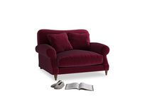Crumpet Love seat in Merlot Plush Velvet