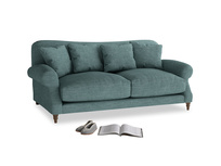 Medium Crumpet Sofa in Blue Turtle Clever Laundered Linen