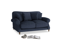 Small Crumpet Sofa in Night Owl Blue Clever Woolly Fabric