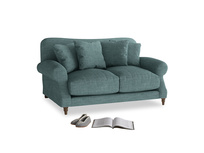 Small Crumpet Sofa in Blue Turtle Clever Laundered Linen