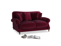 Small Crumpet Sofa in Merlot Plush Velvet
