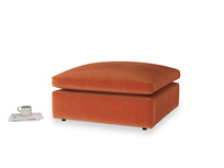 Cuddlemuffin Footstool in Old Orange Clever Deep Velvet