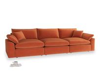 Large Cuddlemuffin Modular sofa in Old Orange Clever Deep Velvet