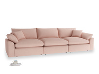 Large Cuddlemuffin Modular sofa in Pale Pink Clever Woolly Fabric