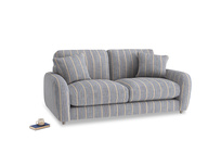 Small Easy Squeeze Sofa in Brittany Blue french stripe