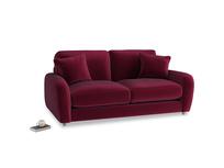 Small Easy Squeeze Sofa in Merlot Plush Velvet