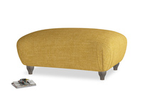 Rectangle Homebody Footstool in Mellow Yellow Laundered Linen