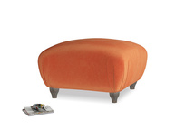 Small Square Homebody Footstool in Old Orange Clever Deep Velvet