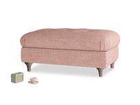 Rectangle Jammy Dodger Footstool in Blossom Laundered Linen