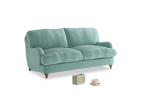 Small Jonesy Sofa in Greeny Blue Clever Deep Velvet