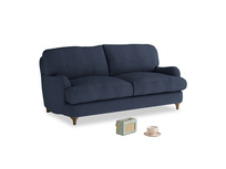Small Jonesy Sofa in Night Owl Blue Clever Woolly Fabric