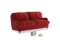 Small Jonesy Sofa in Rusted Ruby Vintage Velvet