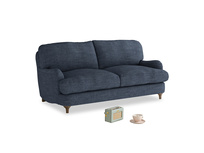 Small Jonesy Sofa in Selvedge Blue Clever Laundered Linen