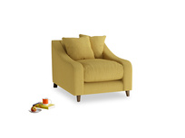 Oscar Armchair in Easy Yellow Clever Woolly Fabric