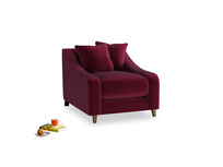 Oscar Armchair in Merlot Plush Velvet