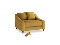 Oscar Love seat in Mellow Yellow Clever Laundered Linen