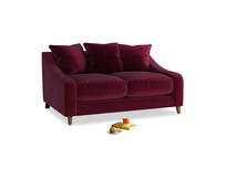 Small Oscar Sofa in Merlot Plush Velvet