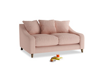 Small Oscar Sofa in Pale Pink Clever Woolly Fabric