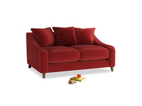 Small Oscar Sofa in Rusted Ruby Vintage Velvet