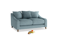 Small Oscar Sofa in Soft Blue Clever Laundered Linen