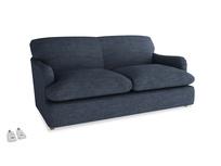 Medium Pudding Sofa Bed in Selvedge Blue Laundered Linen