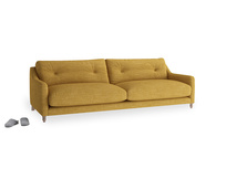 Large Slim Jim Sofa in Mellow Yellow Clever Laundered Linen