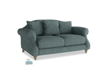 Small Sloucher Sofa in Anchor Grey Laundered Linen