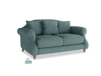 Small Sloucher Sofa in Blue Turtle Laundered Linen