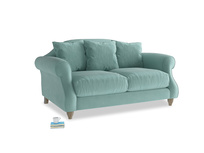 Small Sloucher Sofa in Greeny Blue Clever Deep Velvet