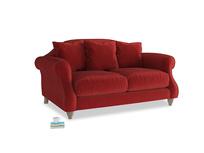 Small Sloucher Sofa in Rusted Ruby Vintage Velvet