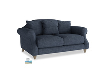 Small Sloucher Sofa in Selvedge Blue Laundered Linen