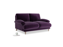 Small Slowcoach Sofa in Deep Purple Clever Deep Velvet