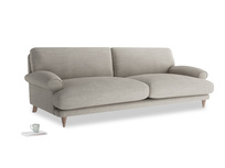Extra large Slowcoach Sofa in Grey Daybreak Clever Laundered Linen
