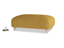 Soufflé Footstool in Mellow Yellow Clever Laundered Linen